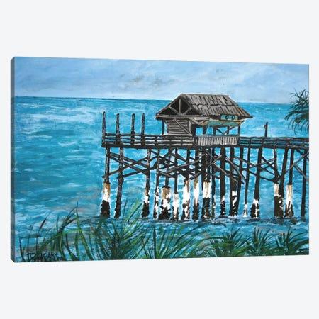 Pier Seascape Canvas Print #DMC62} by Derek McCrea Canvas Art Print
