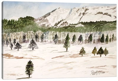 Pike's Peak Mountain Landscape Canvas Art Print