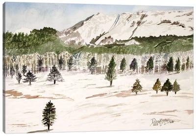 Pike's Peak Mountain Landscape Canvas Art Print