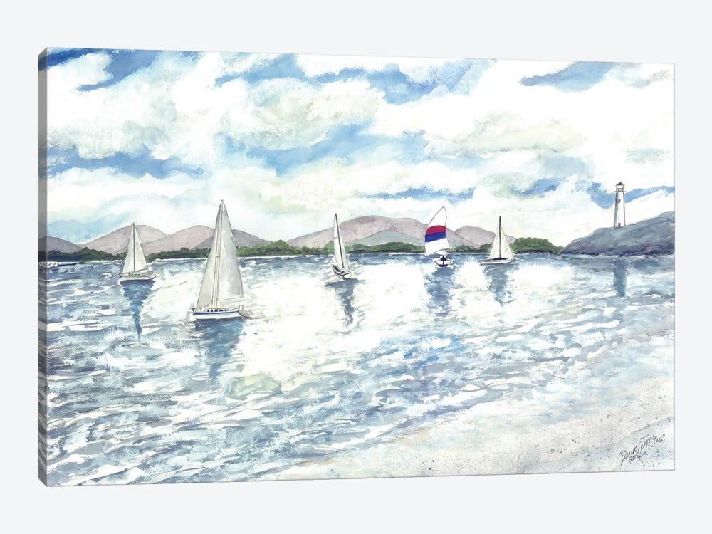 Sailboats Seascape by Derek McCrea 1-piece Canvas Artwork