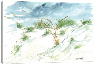 Sand Dunes Beach Painting Canvas Art Print