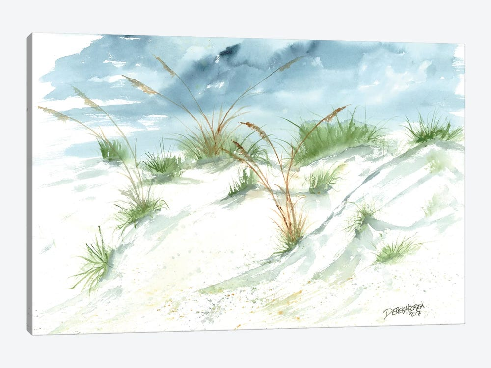 Sand Dunes Beach Painting by Derek McCrea 1-piece Art Print