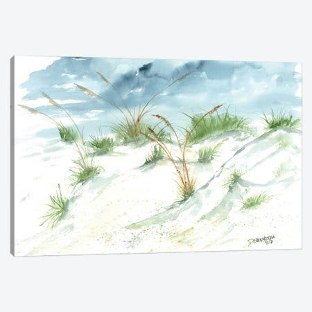 Sand Dunes Beach Painting Canvas Print #DMC70} by Derek McCrea Canvas Wall Art