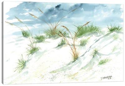 Sand Dunes Beach Painting Canvas Art Print