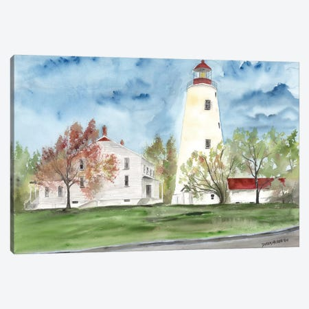 Sandy Hook Lighthouse Canvas Print #DMC71} by Derek McCrea Canvas Artwork