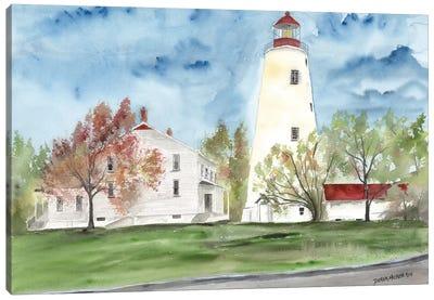 Sandy Hook Lighthouse Canvas Art Print