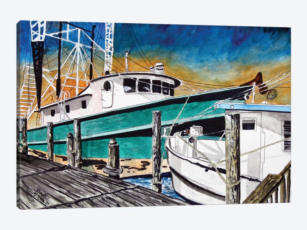 Shrimp Boats II by Derek McCrea 1-piece Canvas Wall Art
