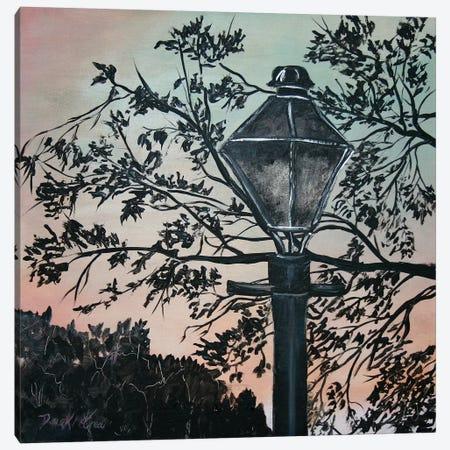 Street Light Painting 3-Piece Canvas #DMC77} by Derek McCrea Canvas Art Print