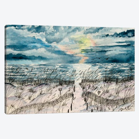 Summer Beach Sand Dunes Canvas Print #DMC78} by Derek McCrea Canvas Artwork