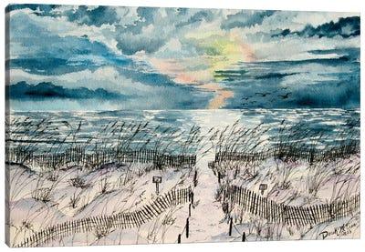 Summer Beach Sand Dunes Canvas Art Print