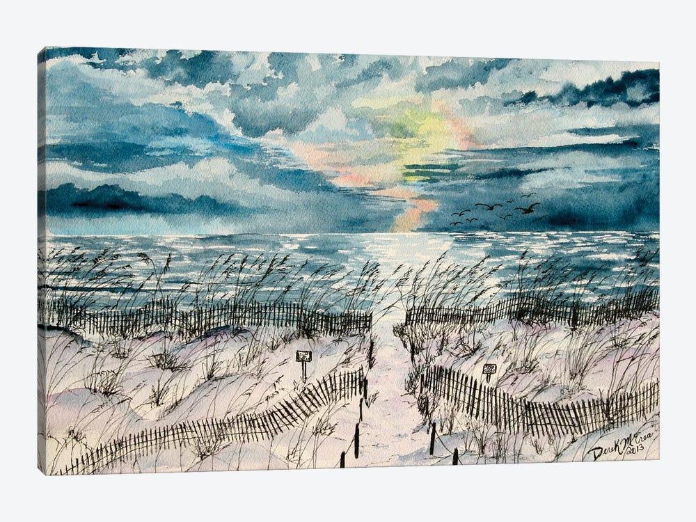 Summer Beach Sand Dunes by Derek McCrea 1-piece Canvas Print