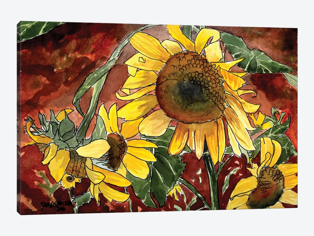 Sunflowers by Derek McCrea 1-piece Canvas Artwork