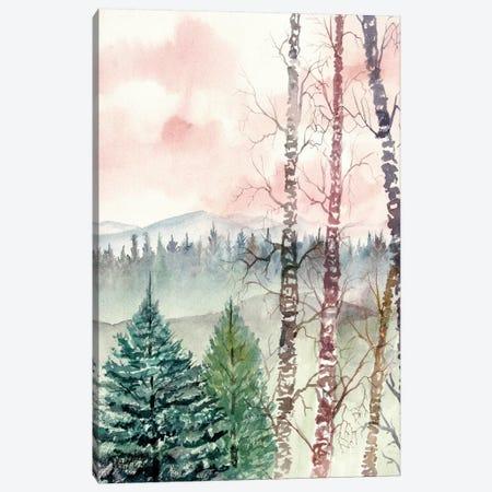 Birch Trees, Winter Landscape 3-Piece Canvas #DMC7} by Derek McCrea Canvas Print