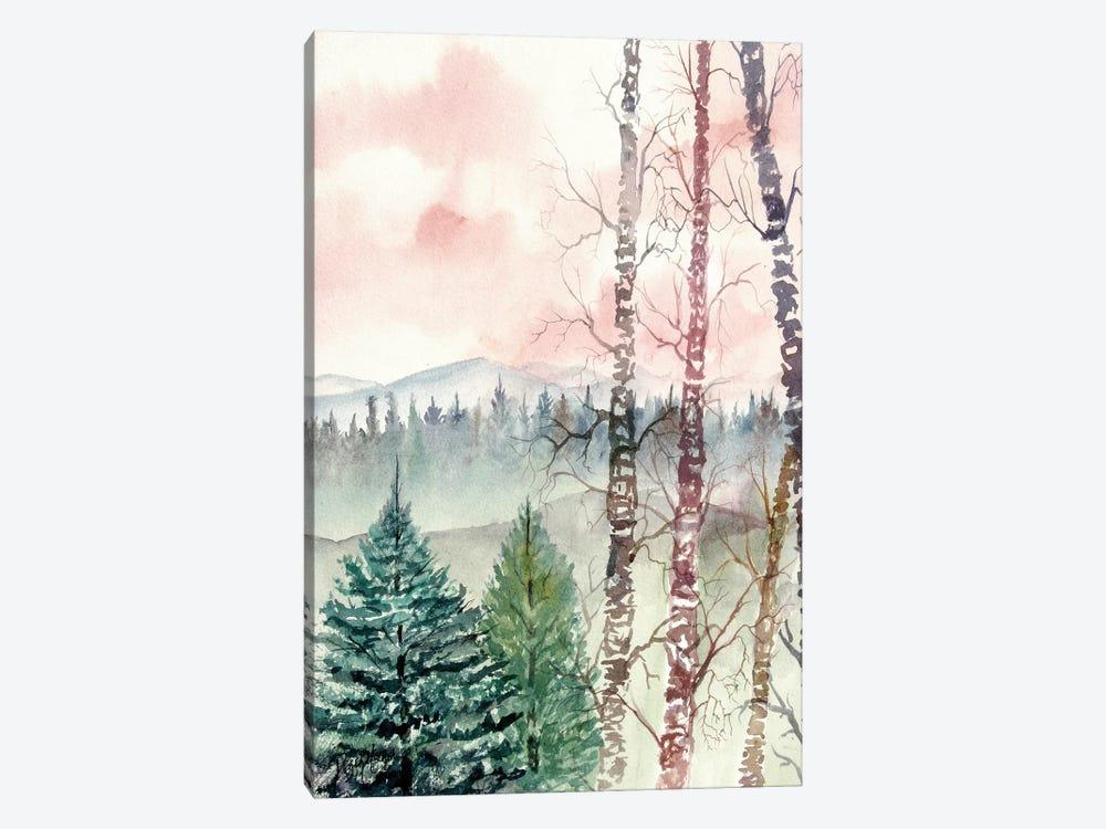 Birch Trees, Winter Landscape by Derek McCrea 1-piece Canvas Artwork