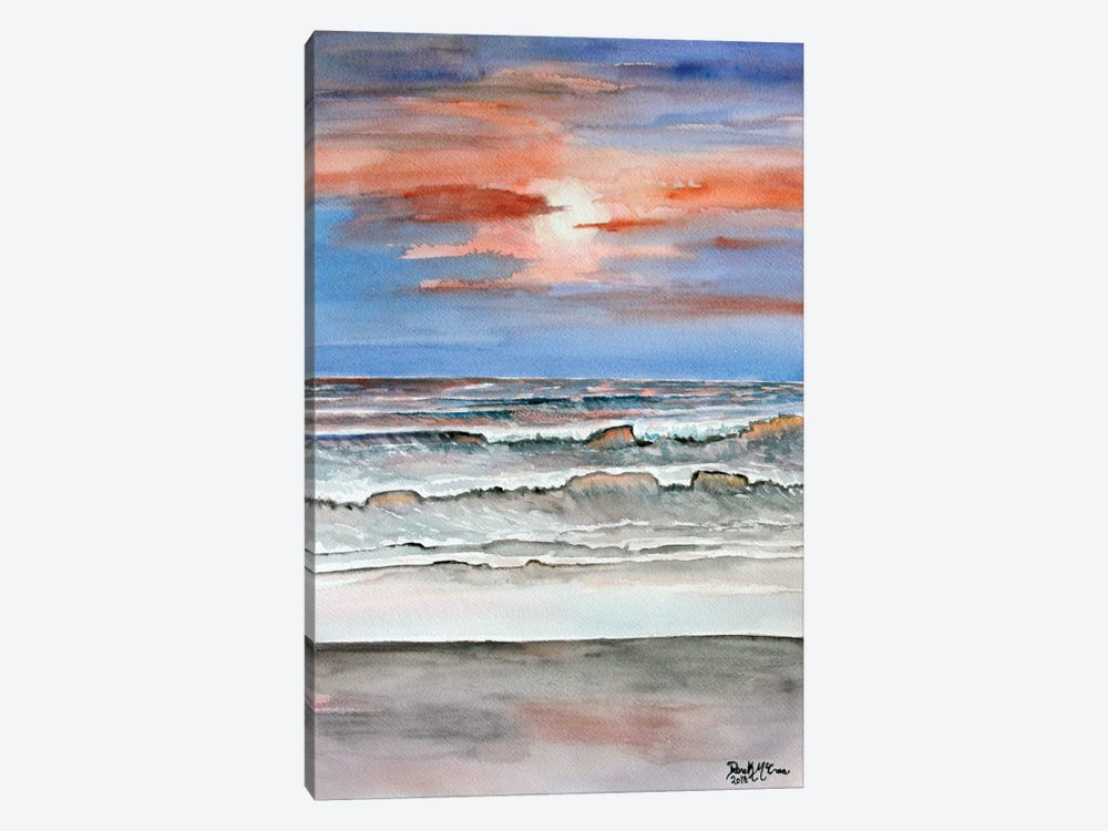 Sunset Beach 1-piece Canvas Wall Art