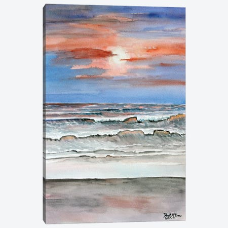 Sunset Beach Canvas Print #DMC80} by Derek McCrea Canvas Print
