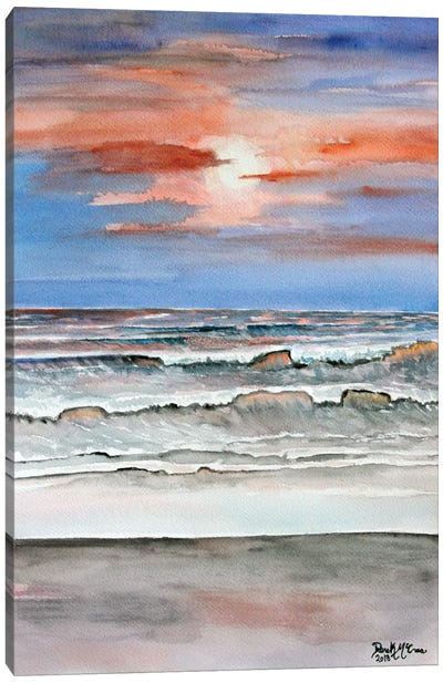 Sunset Beach Canvas Art Print