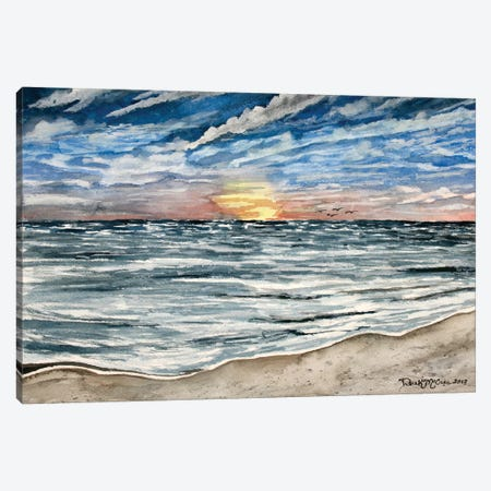 Sunset Seascape Canvas Print #DMC81} by Derek McCrea Canvas Print