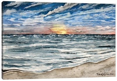 Sunset Seascape Canvas Art Print