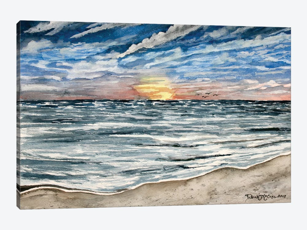 Sunset Seascape by Derek McCrea 1-piece Art Print