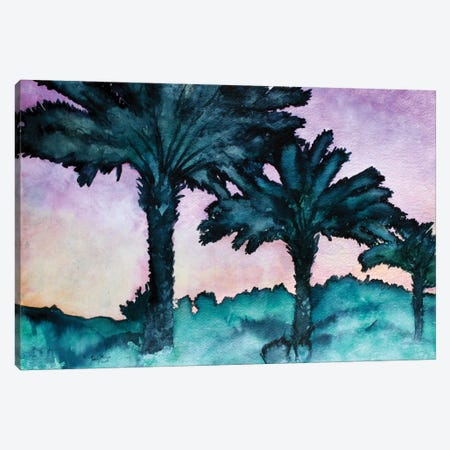 Twin Palms Canvas Print #DMC85} by Derek McCrea Canvas Wall Art