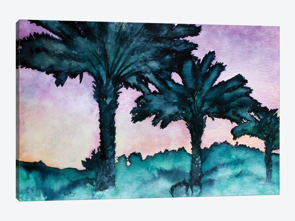 Twin Palms by Derek McCrea 1-piece Art Print