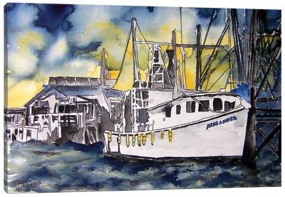 Tybee Island Boat Canvas Art Print