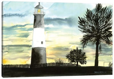 Tybee Island Lighthouse Canvas Art Print