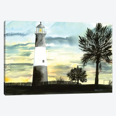 Tybee Island Lighthouse 3-Piece Canvas #DMC87} by Derek McCrea Canvas Art