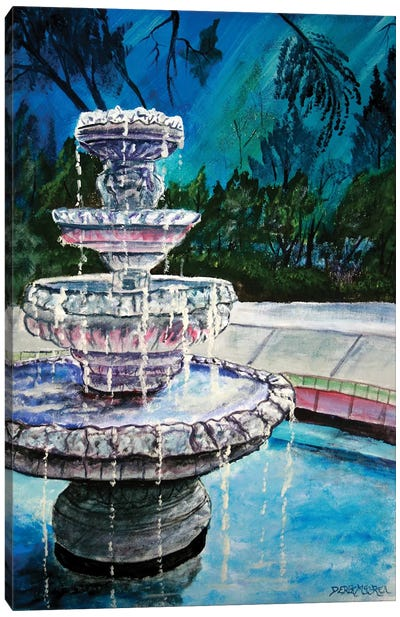 Water Fountain II Canvas Art Print