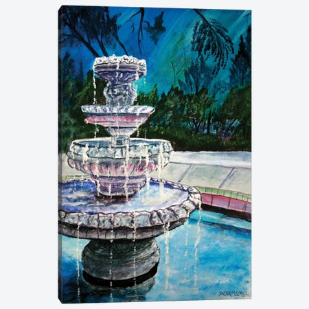 Water Fountain II 3-Piece Canvas #DMC88} by Derek McCrea Canvas Art Print