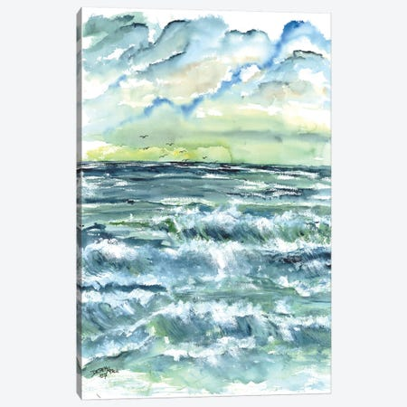 Waves Seascape Canvas Print #DMC89} by Derek McCrea Canvas Print