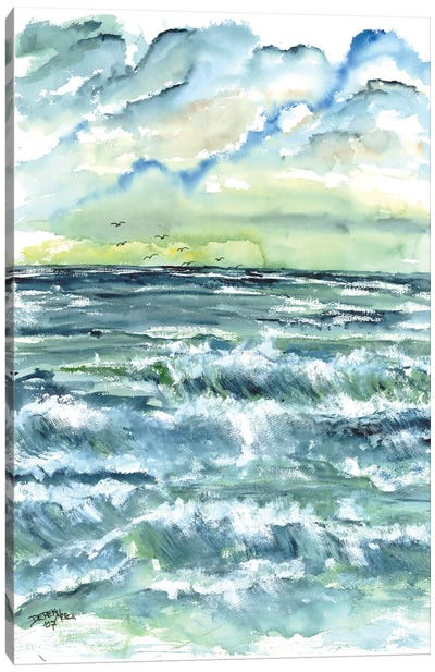 Waves Seascape Canvas Art Print