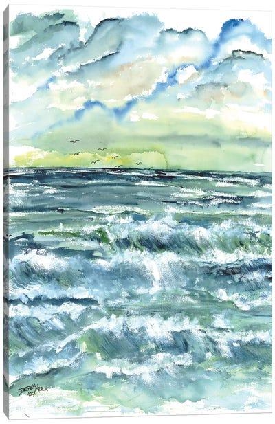 Waves Seascape Canvas Art Print