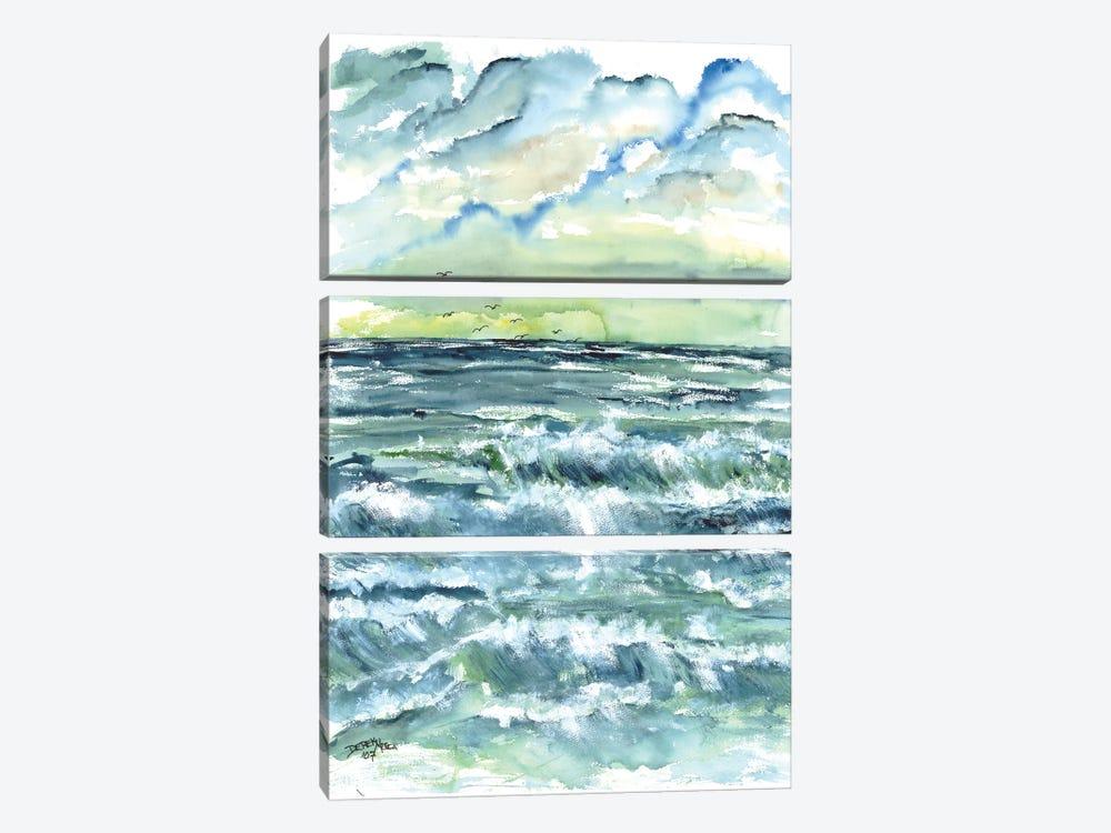 Waves Seascape by Derek McCrea 3-piece Canvas Art Print
