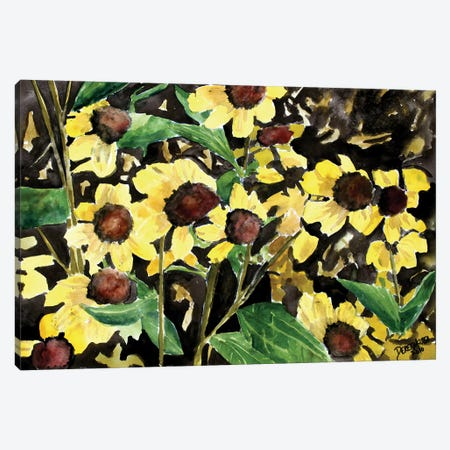 Black-Eyed Susan Flowers 3-Piece Canvas #DMC9} by Derek McCrea Canvas Art