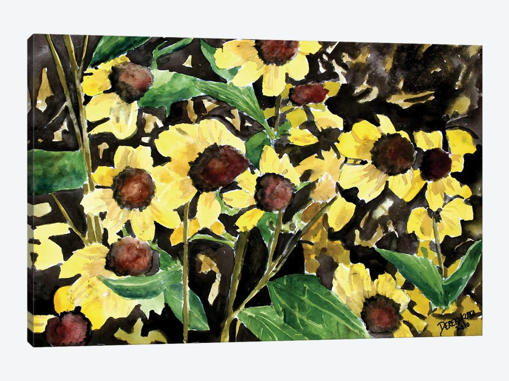 Black-Eyed Susan Flowers by Derek McCrea 1-piece Canvas Art