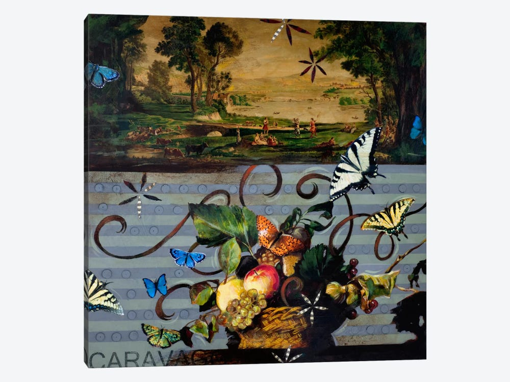 Picnic With Caravaggio by Darlene McElroy 1-piece Canvas Art