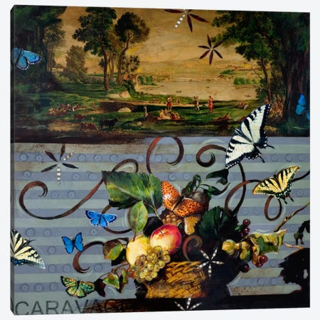 Picnic With Caravaggio Canvas Print #DME13} by Darlene McElroy Canvas Artwork