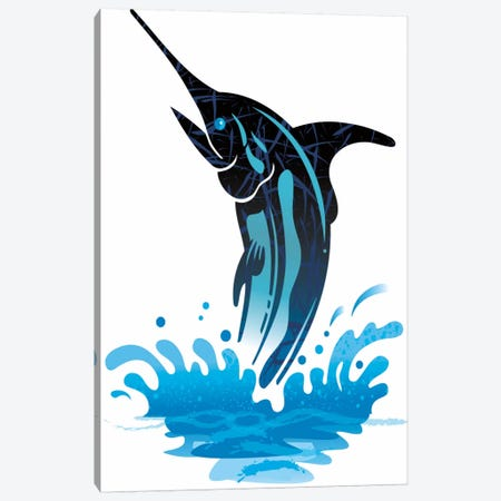 Swordfish Canvas Print #DME18} by Darlene McElroy Canvas Wall Art