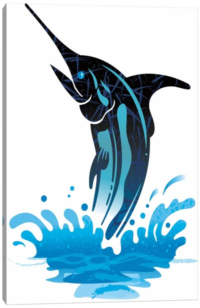 Swordfish Canvas Art Print