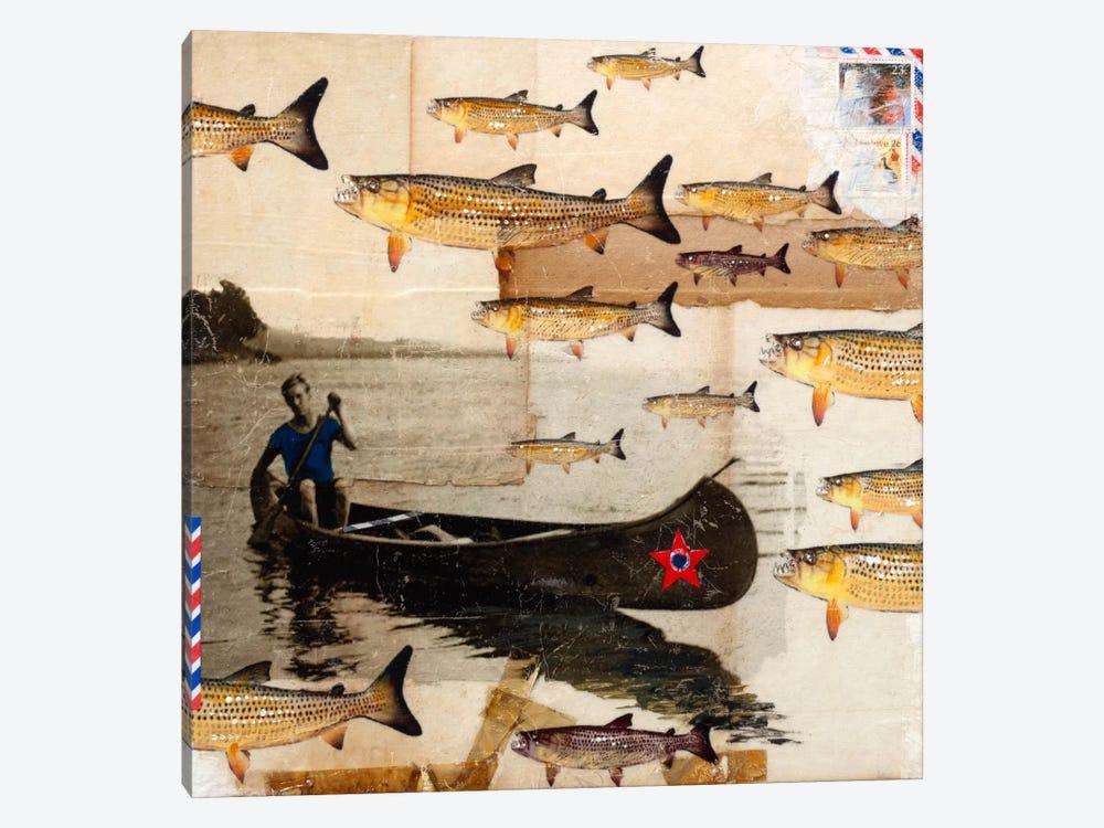 Canoeing In Troubled Waters by Darlene McElroy 1-piece Art Print