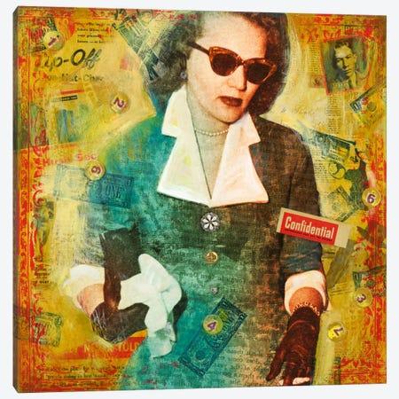 Confidential Canvas Print #DME5} by Darlene McElroy Canvas Art Print