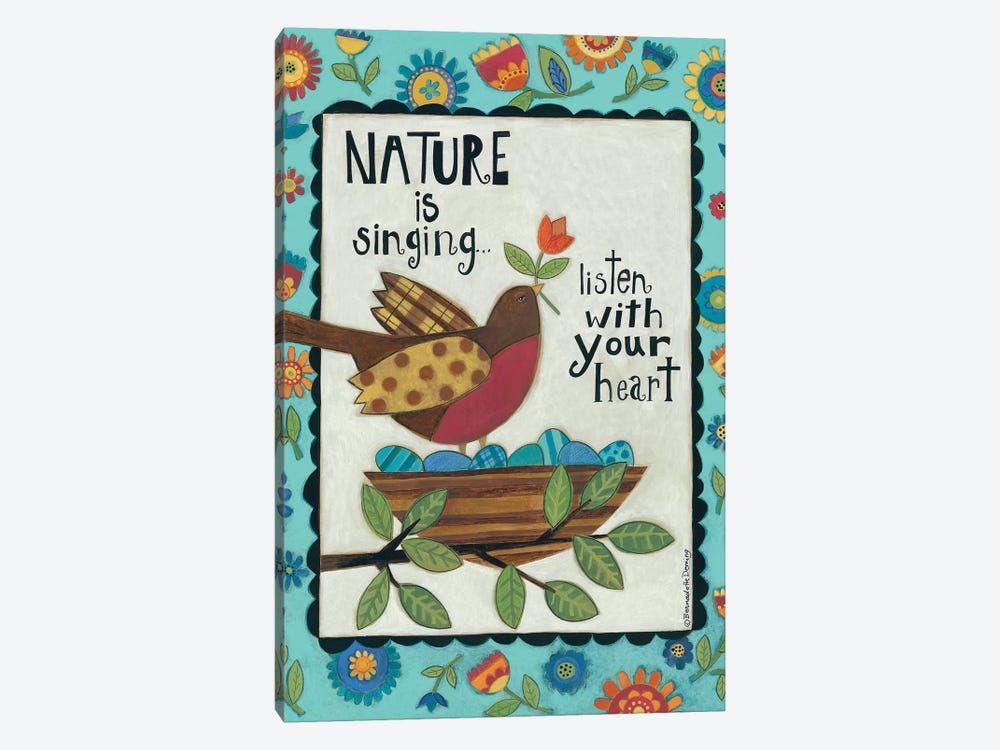 Nature is Singing by Bernadette Deming 1-piece Canvas Art