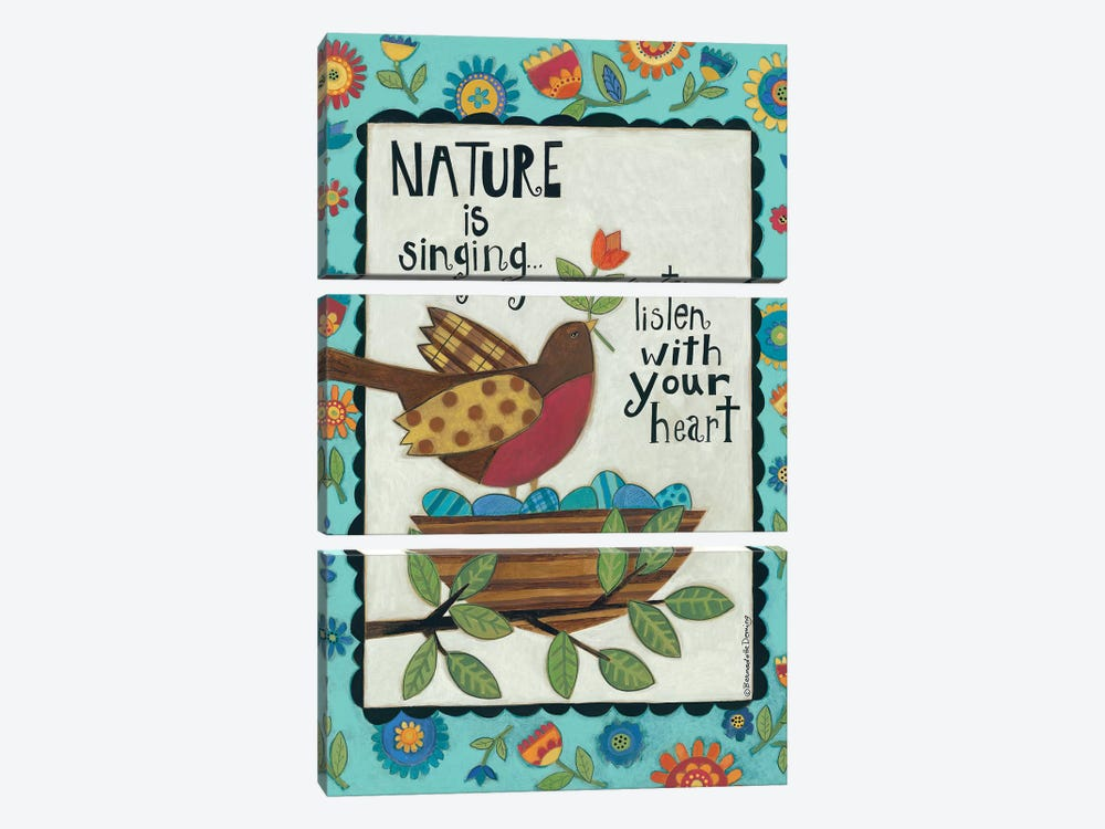 Nature is Singing by Bernadette Deming 3-piece Canvas Art