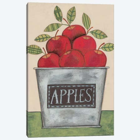 Bucket of Apples Canvas Print #DMG2} by Bernadette Deming Canvas Art