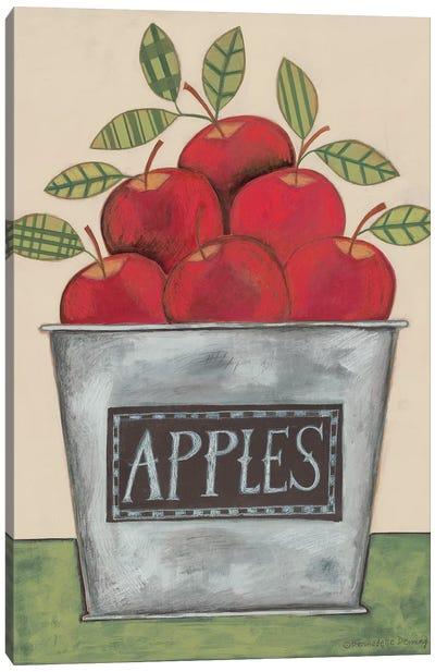Bucket of Apples Canvas Art Print