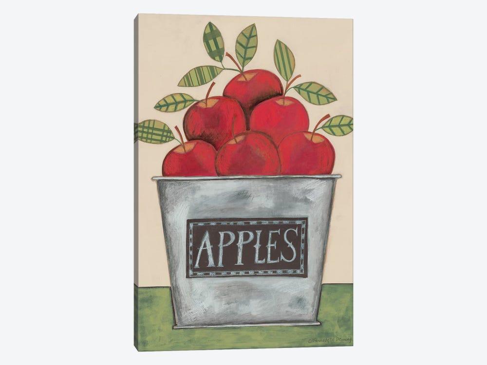 Bucket of Apples by Bernadette Deming 1-piece Canvas Art Print