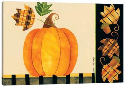 Pumpkin, Leaves And Acorns I Canvas Art Print