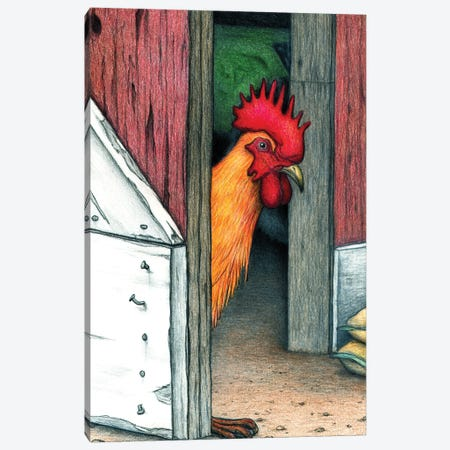 Your Barn Doors Open Canvas Print #DMH107} by Don McMahon Canvas Art Print